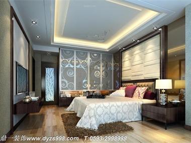 现代时尚雅居设计案例卧室