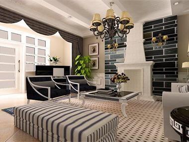 现代风格设计案例客厅
