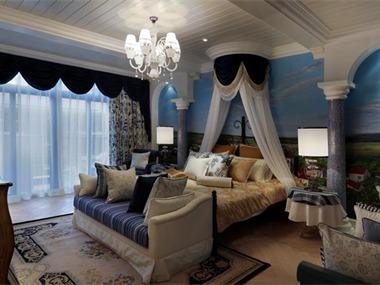 110平地中海风格家装案例图卧室