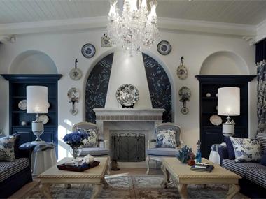 110平地中海风格家装案例图客厅