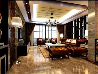 190平中式风格家装案例图客厅
