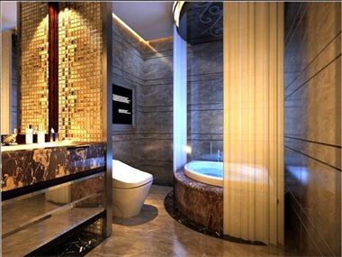 190平中式风格家装案例图卫生间