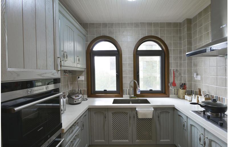 地中海厨房背景墙效果图