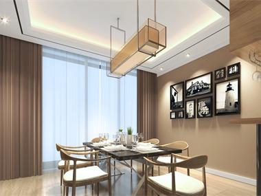 现代餐厅照片墙效果图