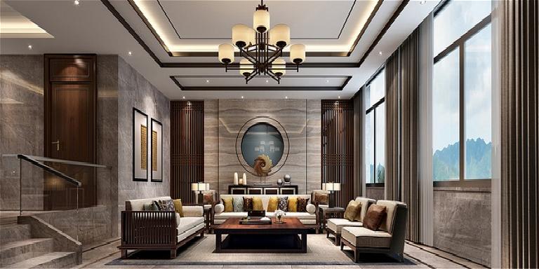 江西创嘉·90号别墅样板房中式 别墅 800m 简介 运用现代的手法表现