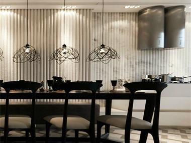 晶苑四季御庭餐厅餐厅背景墙