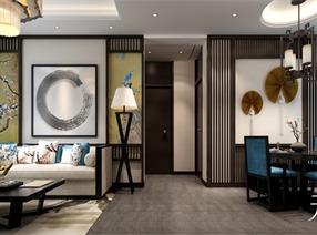 沈阳五矿弘园新中式风格样板房设计
