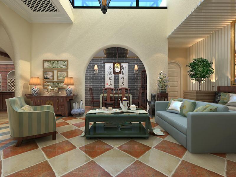 龙湖别墅客厅