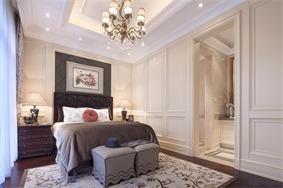 欧式卧室背景墙实景图