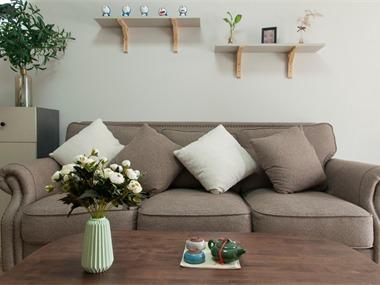 北欧客厅沙发背景墙实景图