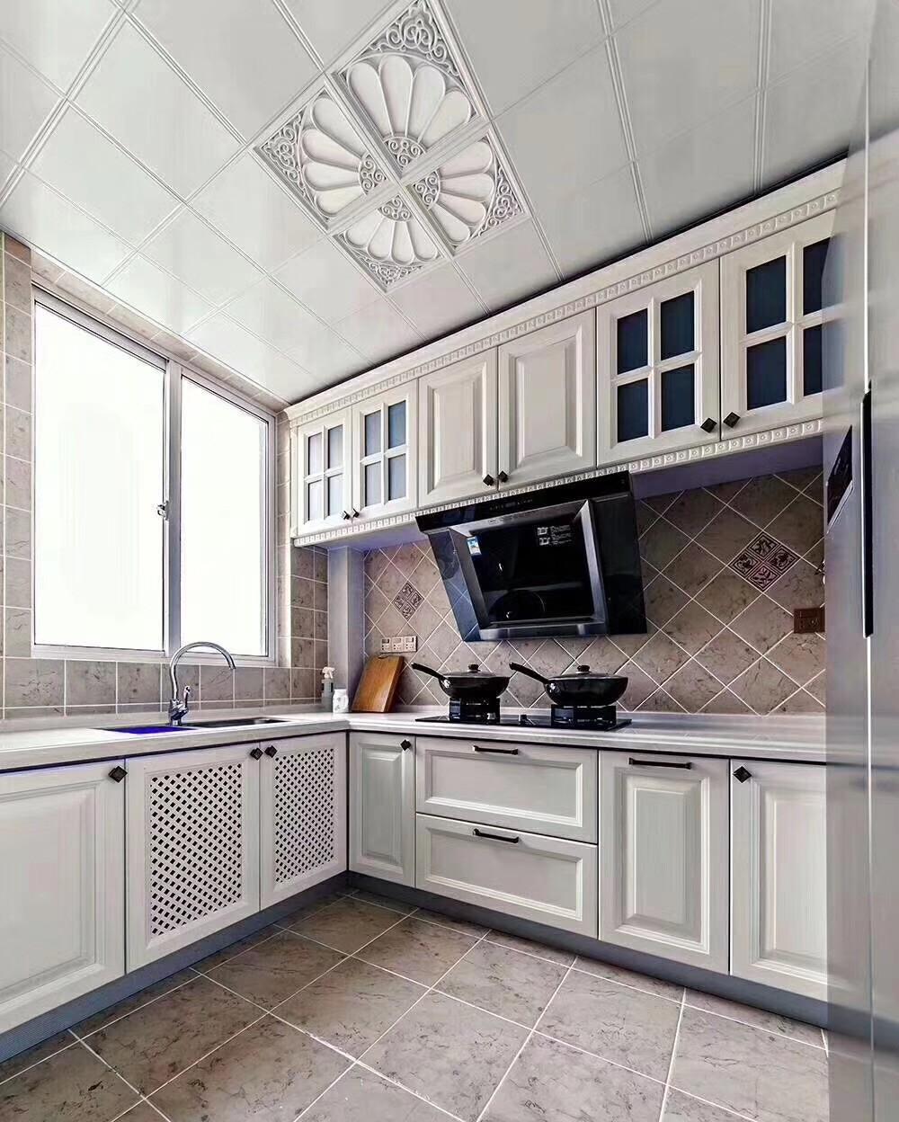 美式廚房吊頂實景圖