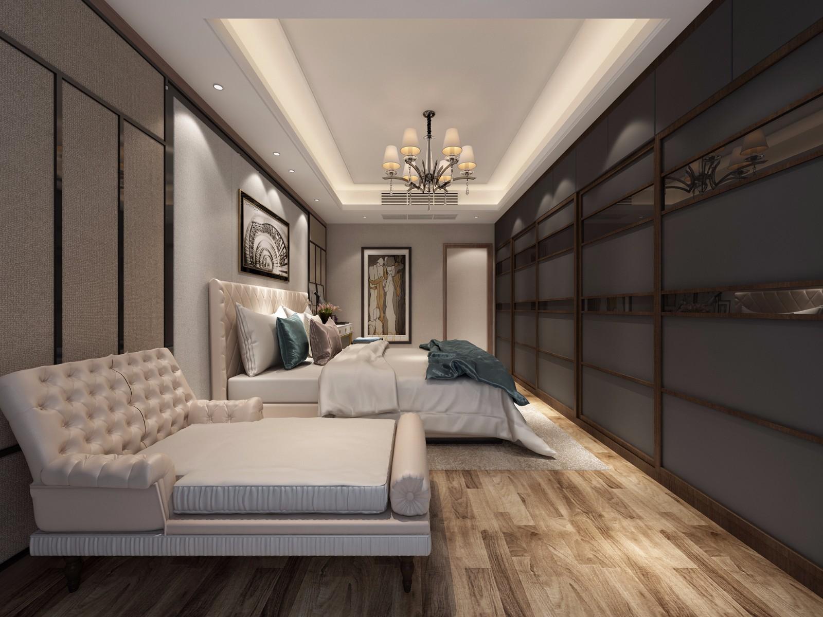 新古典卧室吊顶效果图