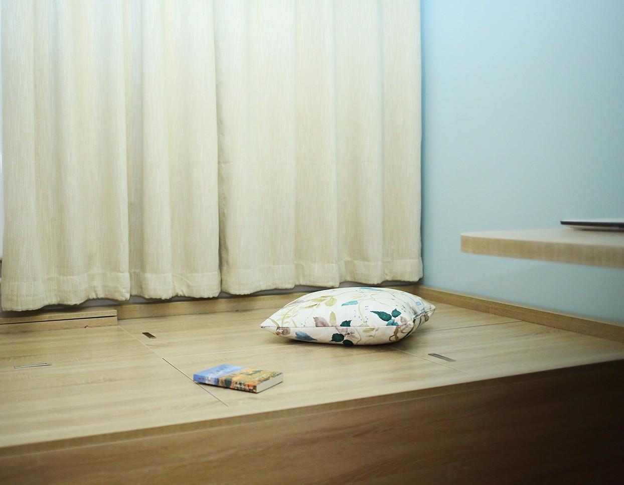 北欧卧室榻榻米实景图