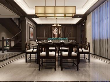 中式客廳隔斷效果圖