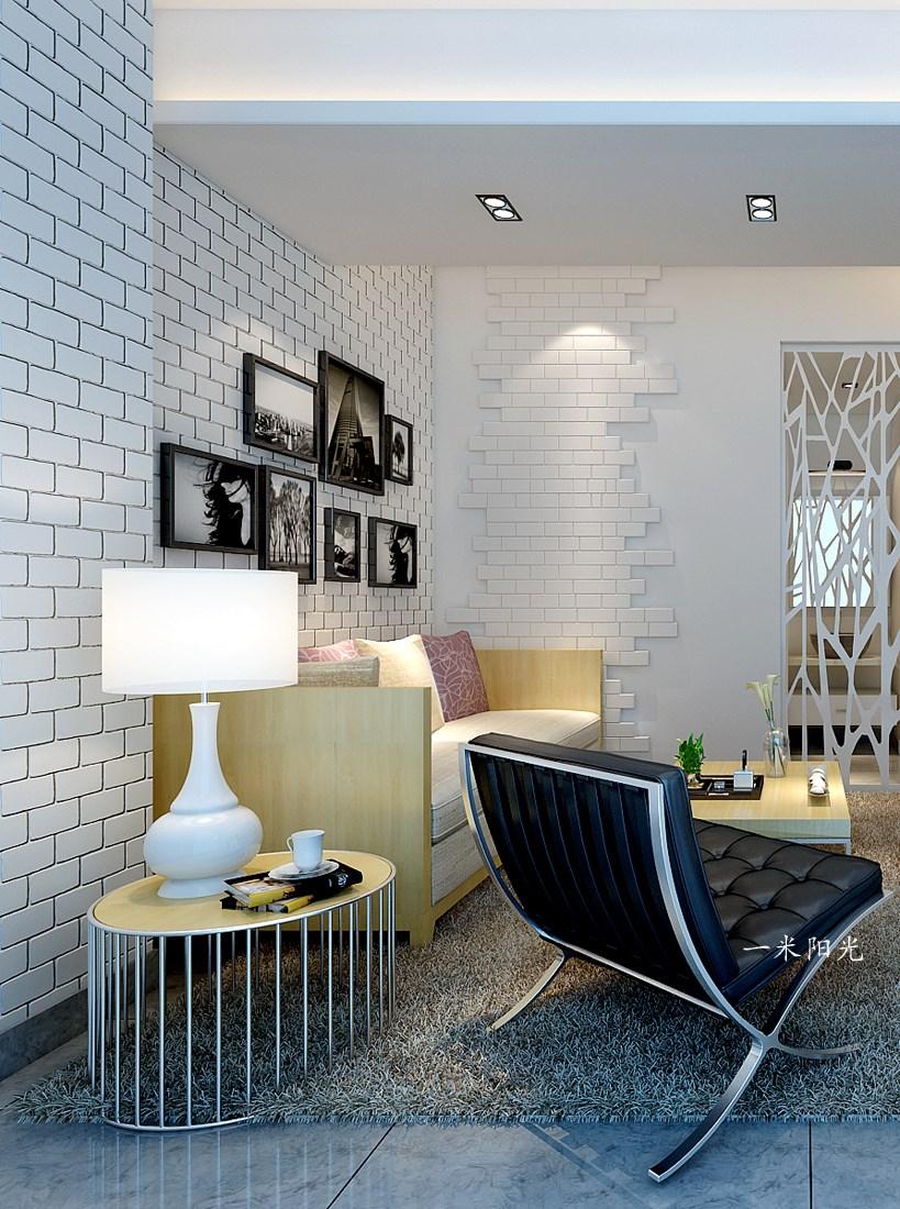 現代客廳照片墻效果圖
