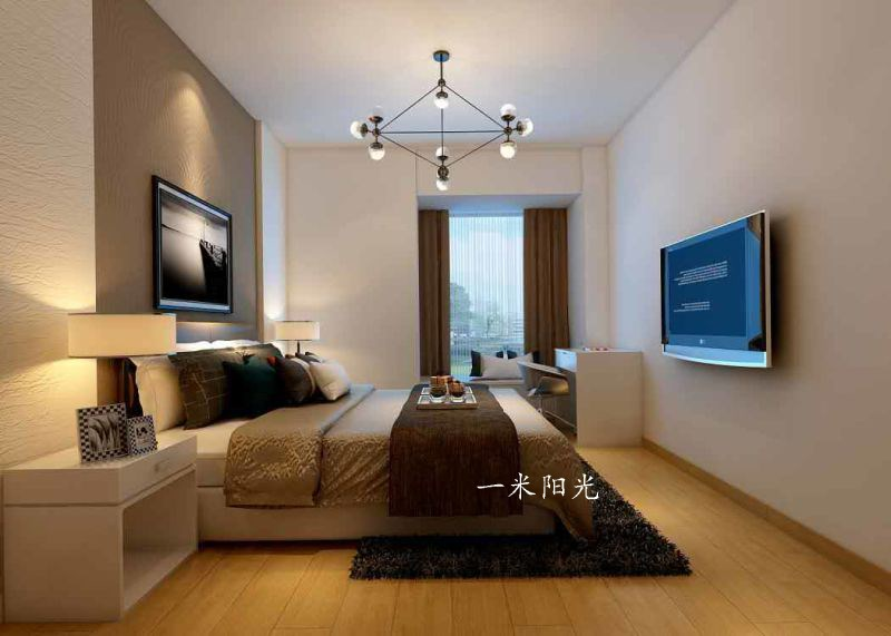 現代臥室吊頂效果圖
