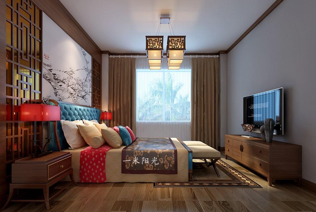 中式臥室吊頂效果圖