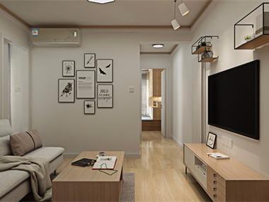 日式客厅背景墙效果图