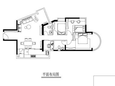 广州滨江路丽景苑平面图