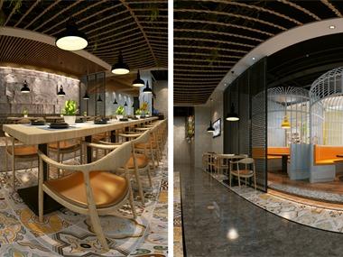 旭东设计-国宾中央烧烤餐厅