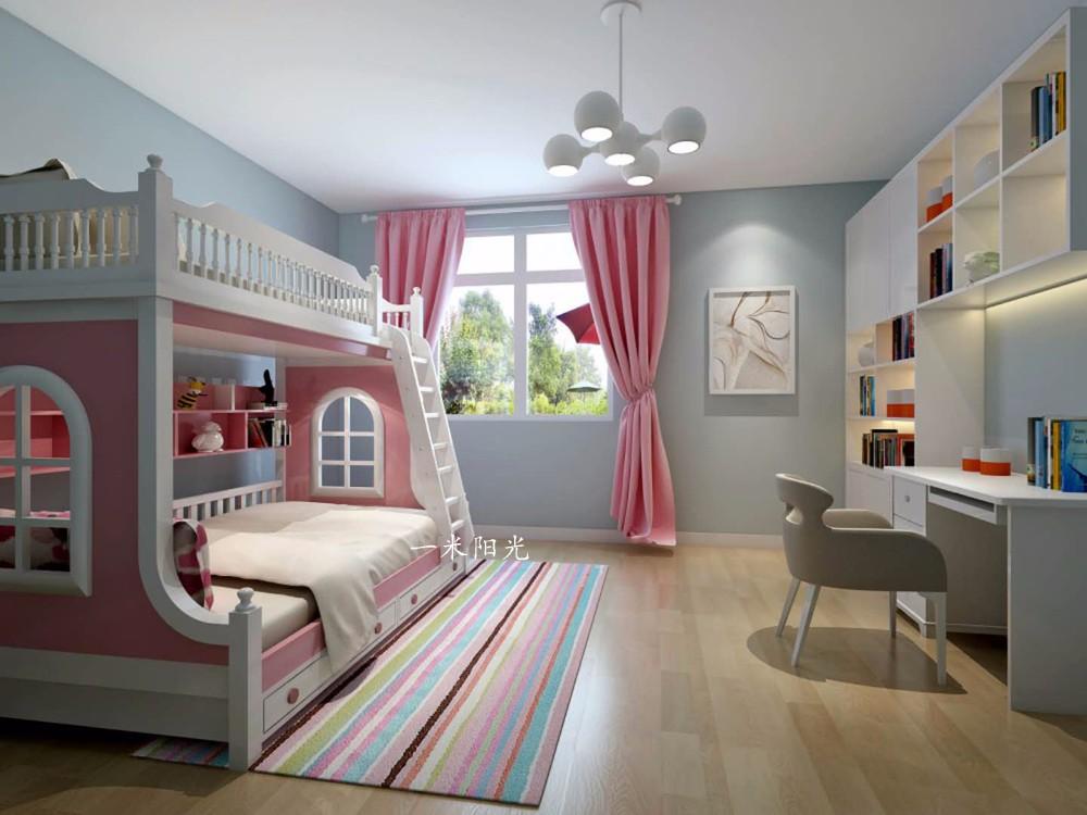 現代兒童房吊頂效果圖