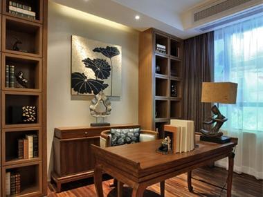 东南亚书房吊顶效果图