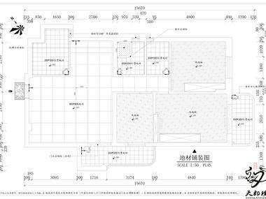 现代家装地材铺装图