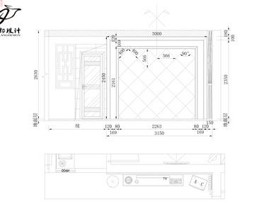 现代家装电视背景墙设计图