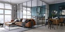 基辅45平米公寓装修 小空间也有同样的美好生活