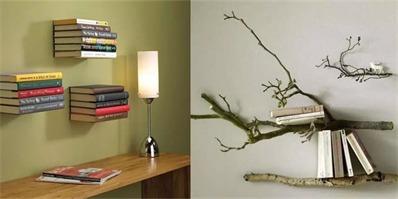 没有独立书房,放一个充满创意的书架也挺好!