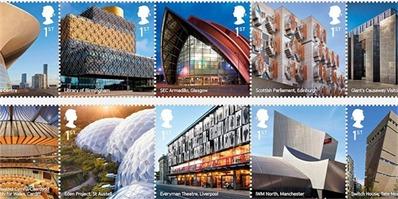 英国近20年的地标建筑,都被收录在这套邮票里了