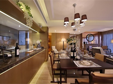 现代餐厅背景墙效果图