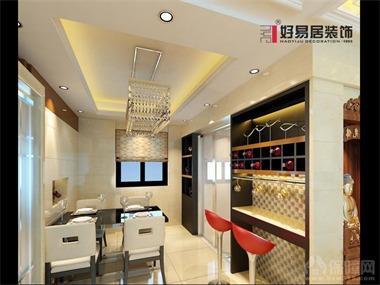 本居室在设计上色调以米黄色为主,电视背景墙采用大理