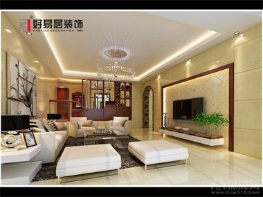 本案为力求内敛宁静的居家氛围,利用白色衬底与茶色雕