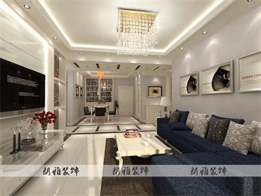 这套户型体现的是家的简约温暖与舒适,与业主的需求统